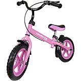 Беговел Kindereo с тормозом колеса 12 пена розовый, фото 2