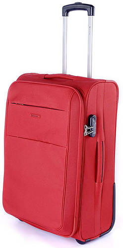 Двухколесный яркий тканевый чемодан на 88/95 л. Puccini Camerino 5704/3 красный