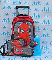 Набор Чемодан - рюкзак + сумка + пенал Человек Паук для школы и путешествий CH19198