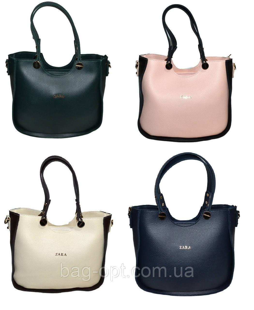 139dd2d9657b Женская сумка с цветными вставками Zara ( 24x29x12 см) Art.1736