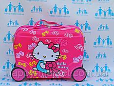 Чемоданы детские качество люкс каталка детский на 4 колесиках Китти розовый 416/7548 HK