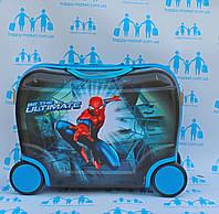 Чемодан каталка детский люкс детский на 4 колесиках Паук 416\7548SM