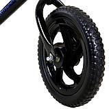 Беговел Kindereo колеса 12 пена черный, фото 4