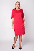 Платье Джайра 52-60 красный