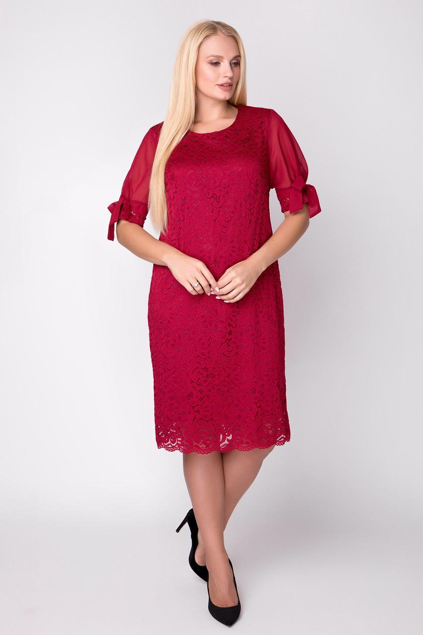 Платье Джайра 52-60 марсала