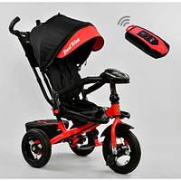 Трехколесный велосипед BEST TRIKE 6088 F с поворотным сиденьем и пультом, складной руль, надувные колеса