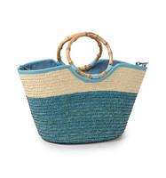 Женская плетенная сумка-корзина