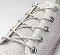 Шнурки с пропиткой круглые белые 100 см