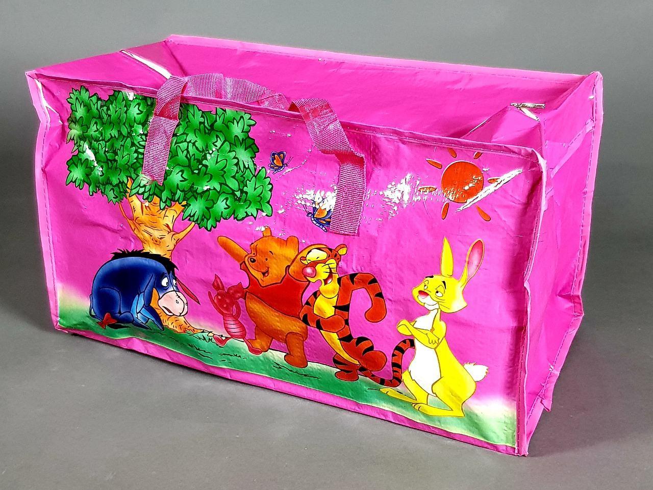 Сумка детская  баул винни пух   для девочки розовая  большой