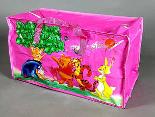 Сумка детская  баул винни пух   для девочки розовая  большой, фото 2