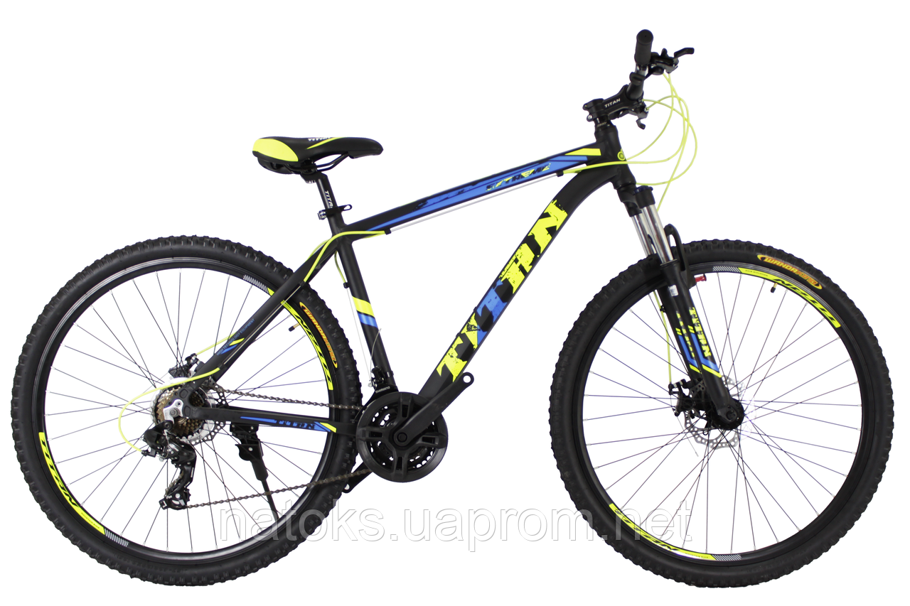"Велосипед Titan Extreme 29"" (Black-Blue-Yellow)"