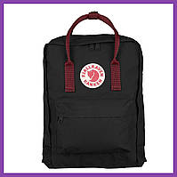 Рюкзак Fjallraven Kanken Classic (Black-Ox Red)