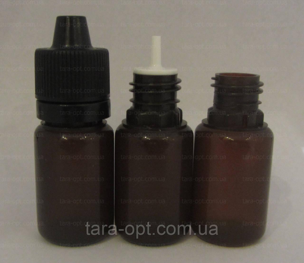 Флакон коричневый 10 мл с защитой от детей (Цена от 1,65 грн)