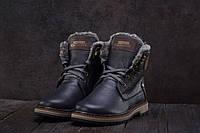 Ботинки Zangak 137 (зима, подростковые, натуральная кожа, синий)