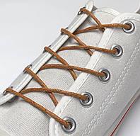 Шнурки с пропиткой круглые рыжий 100 см, фото 1