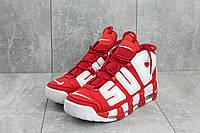 Кроссовки A 8587-2 (Nike Air More Uptempo) (весна/осень, мужские, искусственная кожа, красно-белый)