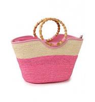 Женская плетенная сумка - корзина