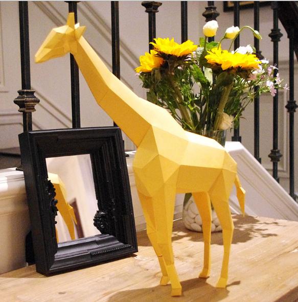 Жираф 3Д модель papercraft