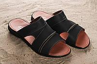Шлепанцы Yuves (Clarks) 99 (лето, мужские, натуральная кожа, черный)