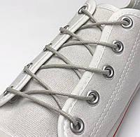 Шнурки с пропиткой круглые светло-серый 80 см