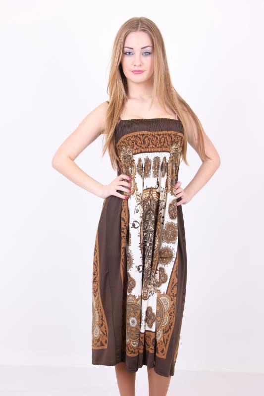 Молодежный сарафан модного кроя материал масло