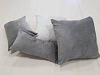 Комплект подушек   Плюш пепельные и молочные, 4шт, фото 1