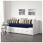 IKEA HEMNES Раскладная кровать с 3 ящиками и 2 матрасами, белый, Хусвика жесткий  (091.861.26), фото 3