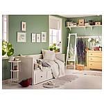 IKEA HEMNES Раскладная кровать с 3 ящиками и 2 матрасами, белый, Хусвика жесткий  (091.861.26), фото 4