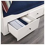 IKEA HEMNES Раскладная кровать с 3 ящиками и 2 матрасами, белый, Хусвика жесткий  (091.861.26), фото 6