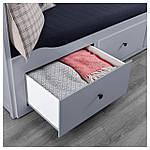 IKEA HEMNES Раскладная кровать с 3 ящиками и 2 матрасами, серый, Мошулт жесткий  (992.116.21), фото 7