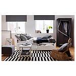 IKEA BRIMNES Раскладная кровать с 2 ящиками и 2 матрасами, белый, Малфорс средней жесткости  (191.299.32), фото 6