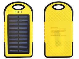 Power Bank Solar 20000 mAh повер банк сонячний акумулятор жовтий