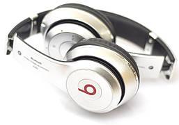 Накладные беспроводные наушники с микрофоном Bluetooth Monster Beats Solo 2 S460 с MP3 плеером Серебристый