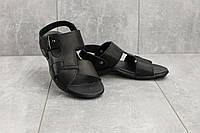 Босоножки StepWey 1075 (лето, мужские, натуральная кожа, черный)