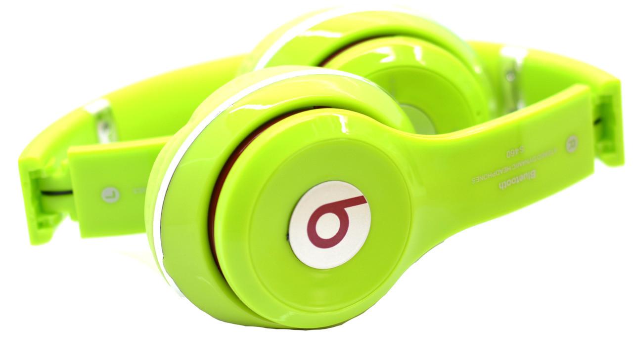 Беспроводные наушники Monster Beats S460 (копия) с MP3 плеером Салатовый