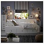 IKEA HEMNES Раскладная кровать с 3 ящиками и 2 матрасами, белый, Малфорс средней жесткости  (091.861.12), фото 2