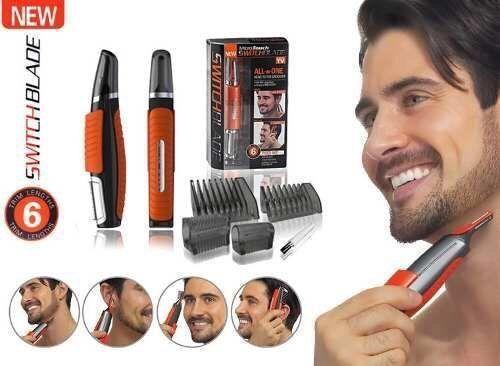 Тример Micro Touch Switchblade бритва, машинка для стрижки бороди усов