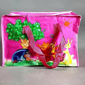 Сумка детская  баул винни пух   для девочки малиновый средний, фото 2