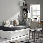 IKEA FLEKKE Раскладная кровать с 2 ящиками и 2 матрасами, белый, Хусвика жесткий диск  (491.838.71), фото 2