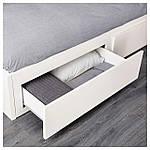 IKEA FLEKKE Раскладная кровать с 2 ящиками и 2 матрасами, белый, Малфорс жесткий диск  (091.298.76), фото 5
