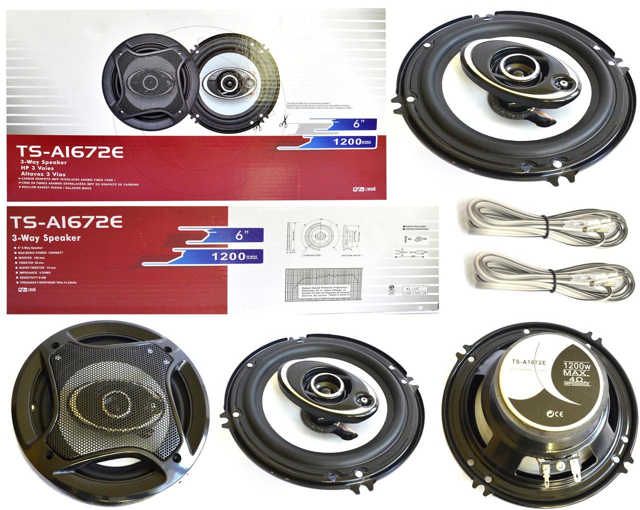 "Динамики для авто акустика Pioneer TS-A1672S 6"" 16 см колонки"