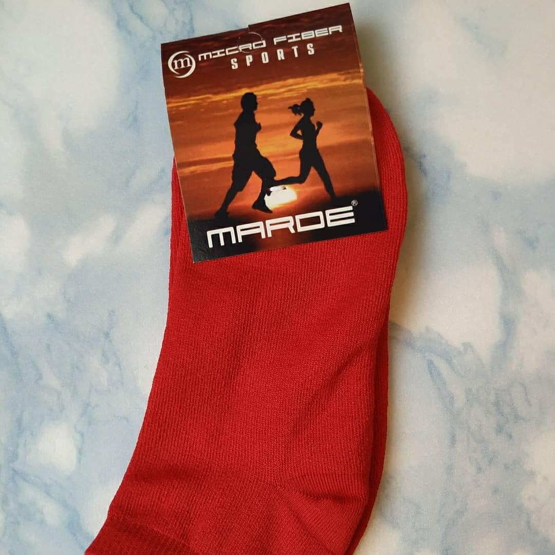 Носки женские красные, размер 35-39