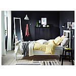 IKEA HEMNES Кровать, белая Морилка, Лурой  (490.095.51), фото 4