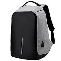 Рюкзак Bobby антивор для ноутбука. Портфель городской  СЕРЫЙ D10431