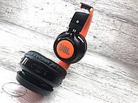Беспроводные наушники JBL 21 Wireless Bluetooth (копия) MP3 карта памяти, аукс Чёрный с оранжевым, фото 1