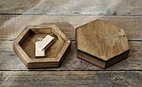 Деревянная коробочка для флешки на магнитах , фото 1