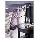 IKEA MALM Кровать высокая с 2 ящиками для хранения, черно-коричневый, Лурой  (690.115.05), фото 4
