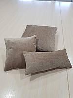 Комплект подушек   Плюш какао, 3шт, фото 1