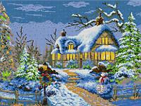 Схема для вышивания бисером - Зимний вечер