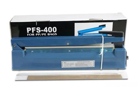 Запайщик свариватель пакетов и пленок РУЧНОЙ PFS-400 пластиковый, фото 2
